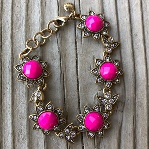 J. Crew Jewelry - Fabulous J Crew Pink Stone Antique Finish Bracelet
